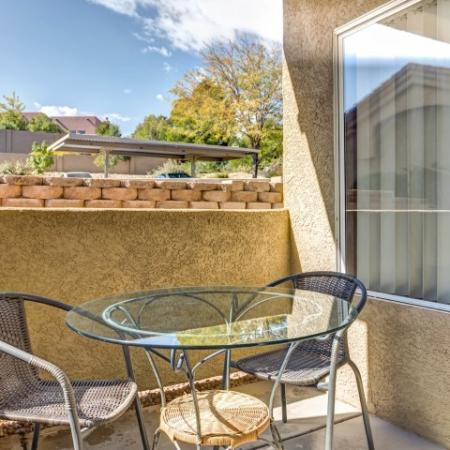 Private patio in 2 bedroom apartment | Links at High Resort