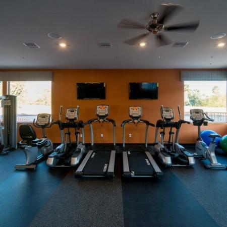 Fitness center with cardio equipment | Tucson AZ apartment gym