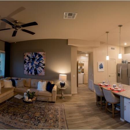 open floor plan with hardwood flooring