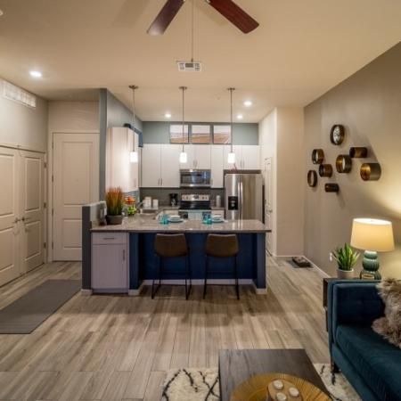 Living room and kitchen | one bedroom Tucson AZ apartment