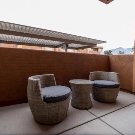 private patio | Pima Canyon two bedroom apartment