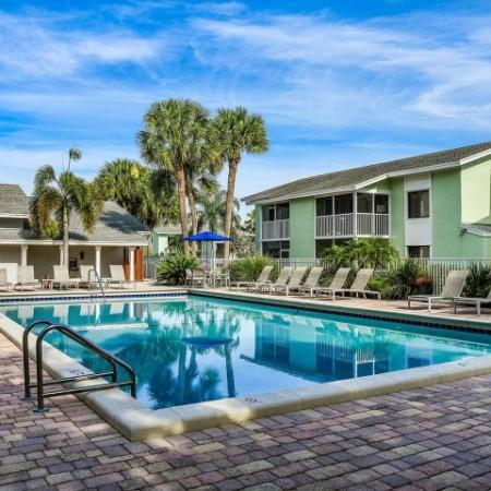 Apartment complex swimming pool in Jupiter FL