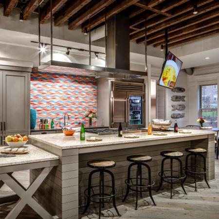 Demonstration kitchen in apartment community clubhouse | The Standard | Charleston SC