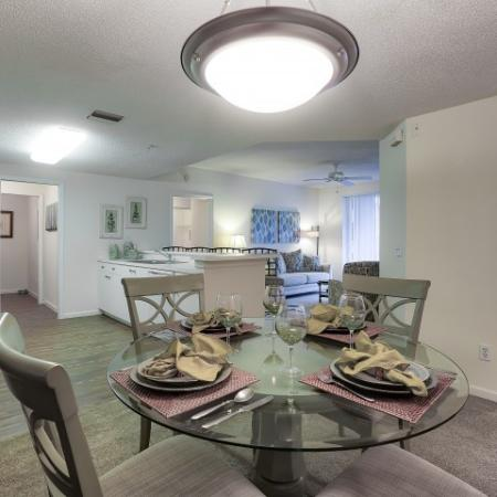 dining room | view of kitchen | 2 bedroom apartment