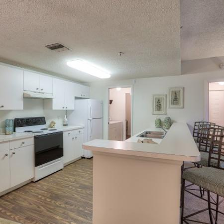 Kitchen with white cabinets | 2 bedroom apartment | bonita Springs Florida