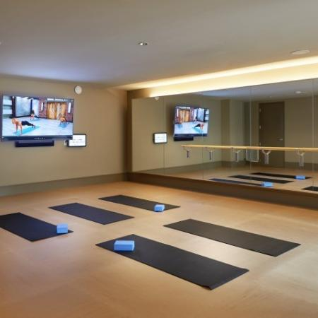 Apartment community with yoga studio