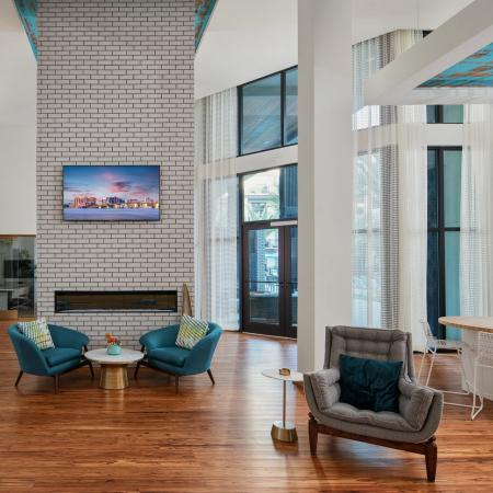 resident lounge at Sarasota apartment community | The District at Rosemary