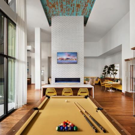 billiards lounge | media room | The district at Rosemary