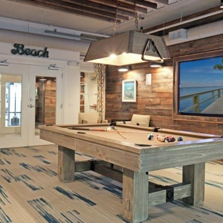 billiards table | The Standard apartments | game room