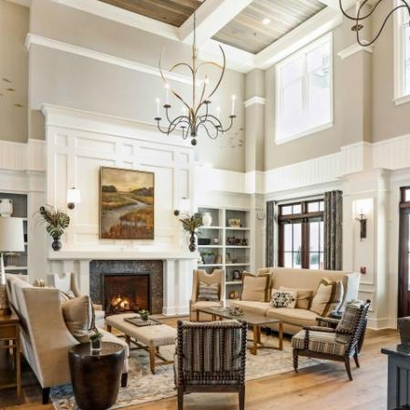 Wharf 7 clubhouse | craftsman style interior