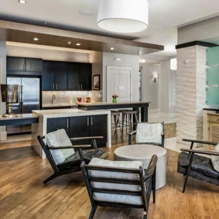 Clubhouse lounge with flat screens | Rialto apartments