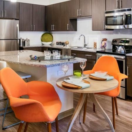 Dining area in Rialto apartment kitchen