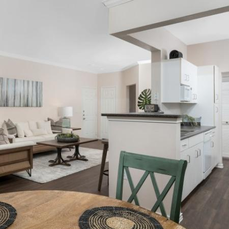 Fully equipped kitchen | Lodge at Lakeline TX apartments