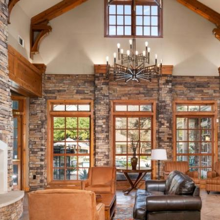 Resident clubhouse | Lodge at Lakeline apartments