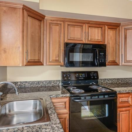 Apartment kitchen with electric appliances West Palm Beach Florida