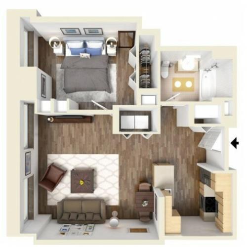1C floor plan