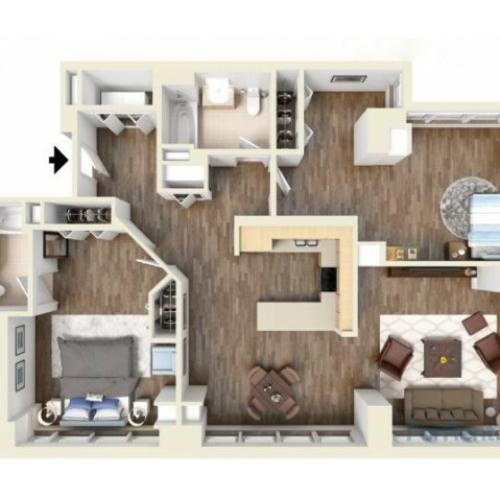 2K floor plan