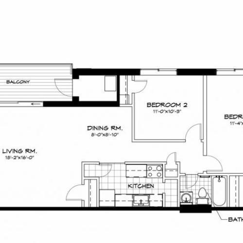 Southbridge Apartments: 2 Bed / 1 Bath Apartment In Takoma Park MD