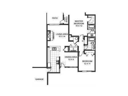 Floor Plan 3 | Manchester Oaks Apartments