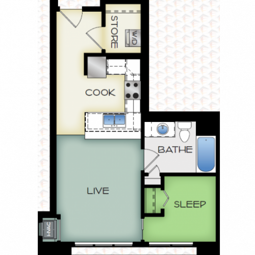 Floor Plan 2 | 50Twenty Apartments