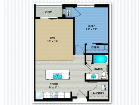 Floor Plan 3 | The Woodlands Apartments