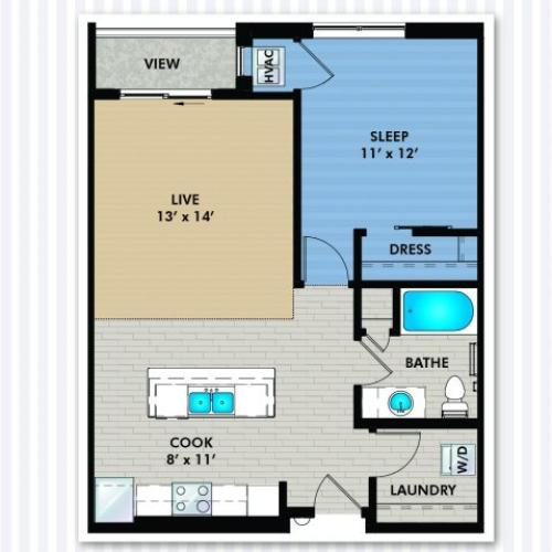 Floor Plan 3 | The Woodlands Apartments