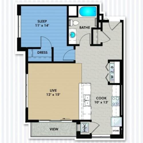 Floor Plan B4 | The Woodlands Apartments | Apartments in Menomonee Falls, WI
