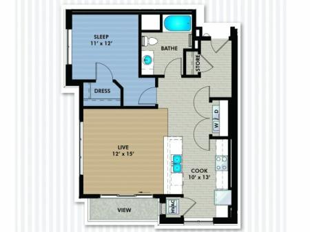 Floor Plan 5 | The Woodlands Apartments
