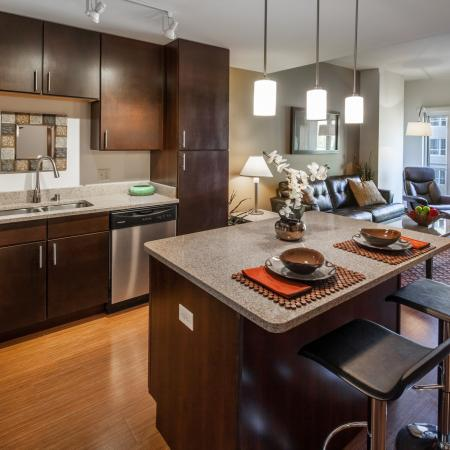 Kitchen at Domain Apartments 2