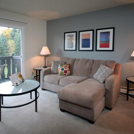 Living Room at Creekwood Apartments