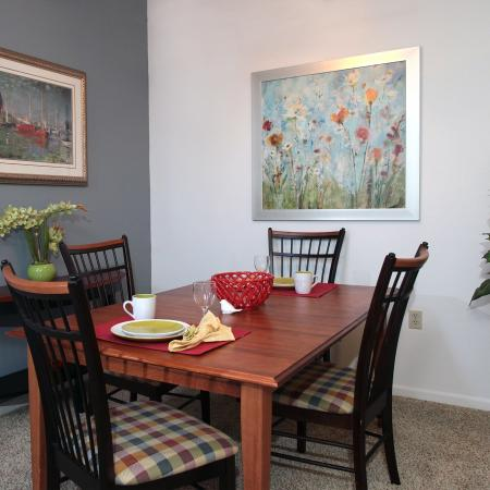 Living Room at Foxcroft Apartments 2