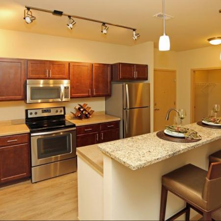Kitchen at The Woodlands Apartments