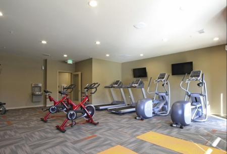 Fitness Center at The Woodlands Apartments