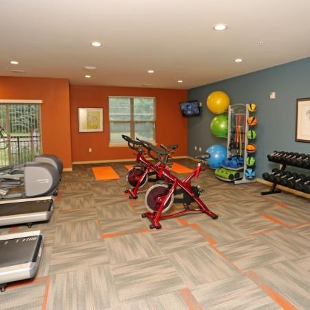 Fitness Center at The Woodlands Apartments 2