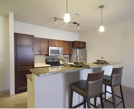 Kitchen at The Woodlands Apartments 2
