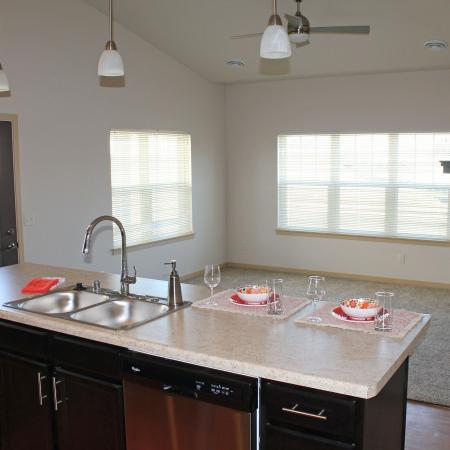 Spacious Kitchen | Bergamont Townhomes