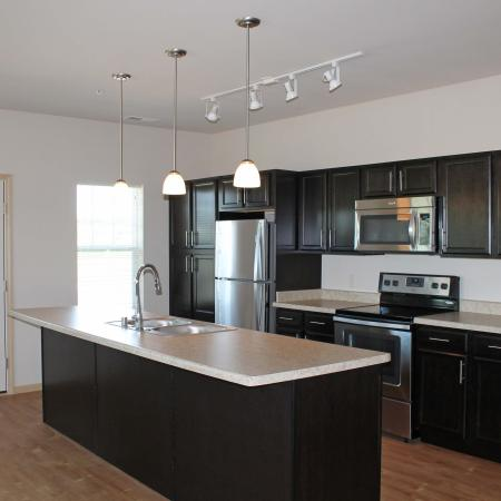 Modern Kitchen | Bergamont Townhomes
