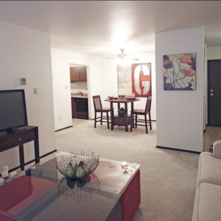 Spacious Living Area | 2 Bedroom Apartments in St. Francis | Ridge View Apartments