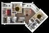 3 Bedroom Floor Plan 2 3D | Luxury Madison Apartments | 22 Slate