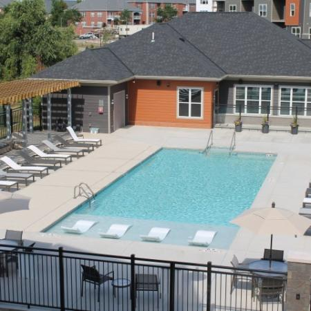 Lounging by the Pool | Madison Apartments | 22 Slate