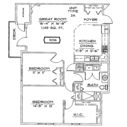 Two Bedroom, One Bathroom with Fireplace | Liberty Square | Apartments in Sun Prairie, WI