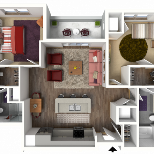 Floor Plan D1 | 22 Slate | Apartments in Madison, WI