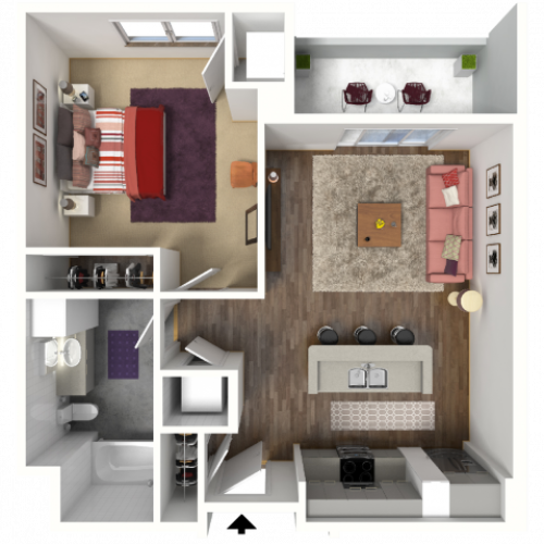 Floor Plan B2 | 22 Slate | Apartments in Madison, WI
