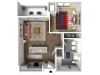 Floor Plan B1A | 22 Slate | Apartments in Madison, WI