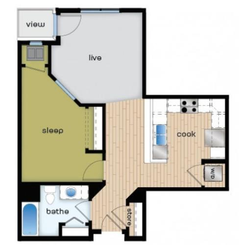 Floor Plan A3 | Elan | Apartments in Fitchburg, WI