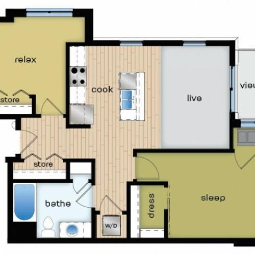 Floor Plan C2 | Elan | Apartments in Fitchburg, WI