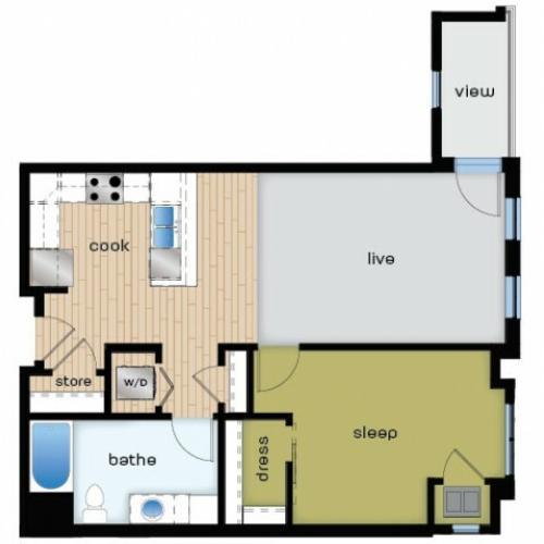 Floor Plan B2 | Elan | Apartments in Fitchburg, WI