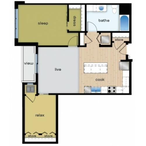 Floor Plan C1 | Elan | Apartments in Fitchburg, WI