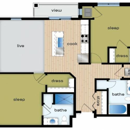Floor Plan D2 | Elan | Apartments in Fitchburg, WI