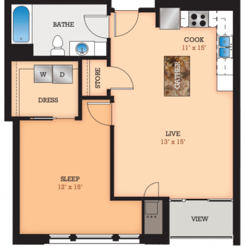 Floor Plan D | Domain | Apartments in Madison, WI